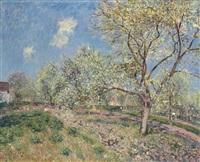 printemps à veneux by alfred sisley