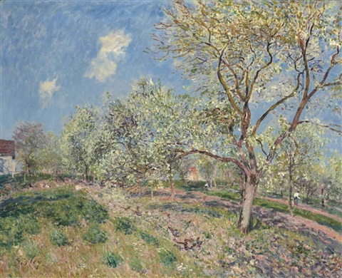 printemps à veneux by alfred sisley