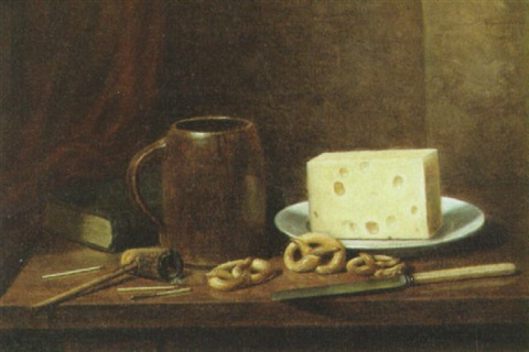 pretzels cheese mug and pipe by albert francis king on artnet