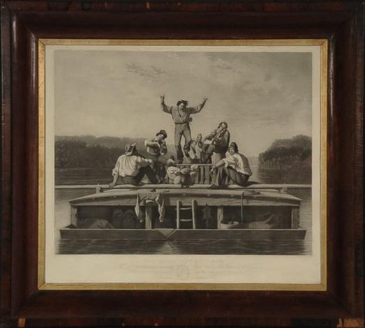 the jolly flatboat men by george caleb bingham