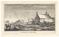 zwei dorfansichten (2 works from landschaften in der umgebung von amsterdam) by geertruyd roghman