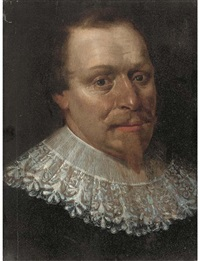 portrait of a man, bust-length by werner van den valckert