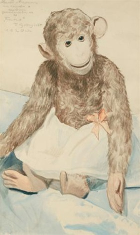 the toy monkey by boris mikhailovich kustodiev