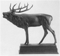 figure of an elk by otto hofner