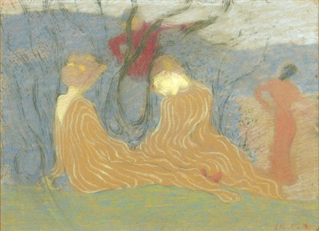 deux femmes dans un bois by edouard vuillard