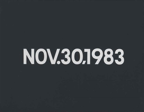 nov 30 1983 by on kawara