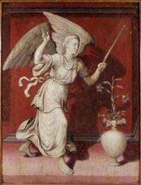 ange de l'annonciation la dormition de la vierge (from triptych) by flemish school-bruges (16)