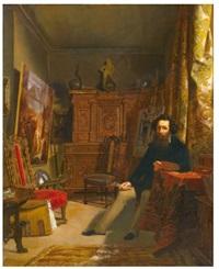 atelier d'un artiste, genève by alexandre-louis d' albert-durade