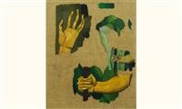saint-sébastien (étude de main) by louis léon eugène billotey