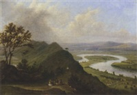 where two rivers meet, the severn and avon, near newnham by anne gibson (bennett) nasmyth