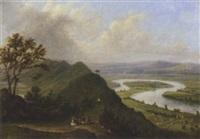 where two rivers meet, the severn and avon, near newnham by anne gibson (bennett) nasmyth