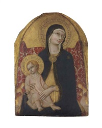 the madonna and child enthroned by sano di pietro