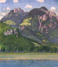 gebirgslandschaft (mountain landscape) by traugott senn