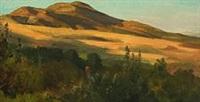 summerlandscape with wanderer by ludwig heinrich theodor (louis) gurlitt