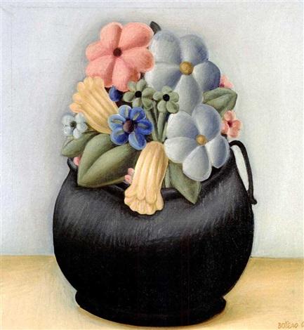 Maceta de flores by Fernando Botero on artnet