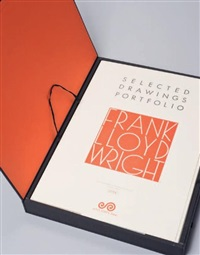 selected drawings portfolio by frank lloyd wright