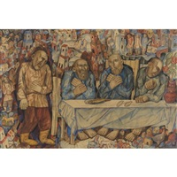 the last supper by pavel nikolaevich filonov
