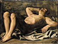 a study for saint sebastian by marcantonio bassetti