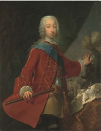portrait of the grand duke peter fedorovich with a baton by georg khristopher groot