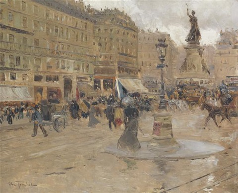 place de clichy by louis abel truchet