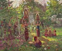 preparing offerings by adrien jean le mayeur de merprés
