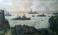 bateaux au port, brest by louis robert antral