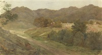 a view in the lake district by henry george holiday
