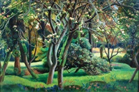 cornish apple orchard by adrian paul allinson