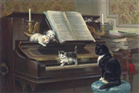 the piano lesson by henriette ronner-knip