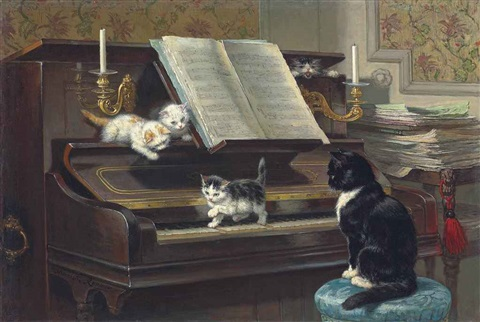 the piano lesson by henriette ronner knip