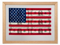 $ 1 u.s. flag by steven gagnon