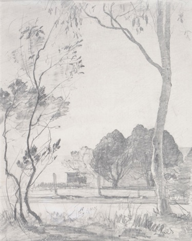 trees near sydney by lloyd frederic rees