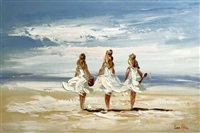 at the beach by lorna miller