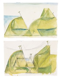 two studies from the new realist series (diptych) by ian scott