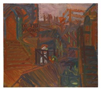 to the studios by frank auerbach