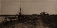 blackshore, river blythe, suffolk, plate xvi (from pictures of east anglian life) by peter henry emerson