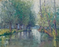 river, giverny by frank townsend hutchens