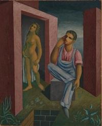 homme assis et femme nue by jaime antonio colson