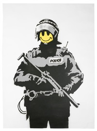smiley copper by banksy