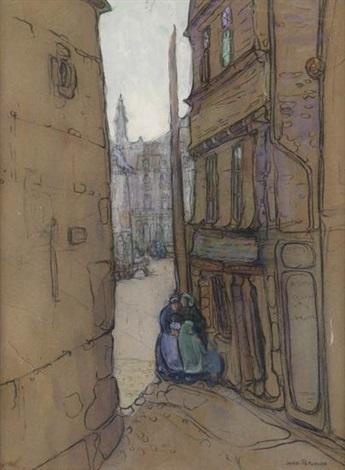 street corner, europe by jane peterson