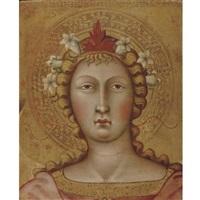 head of an angel by bartolo di messer fredi