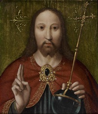 le christ en salvator mundi by dieric bouts the elder