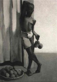 jeune noir aux fruits by lucienne tessier-ducros