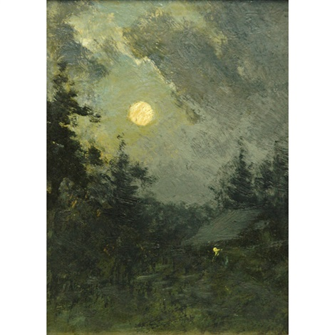 moonlight over trees by edward loyal field