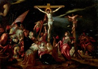 la crucifixion by hans von aachen