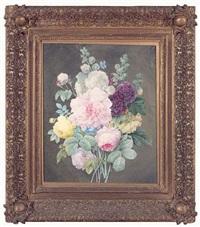 bouquet de roses et de pivoines by adele janet