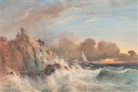 naufragés sur les rochers by vincent joseph françois courdouan