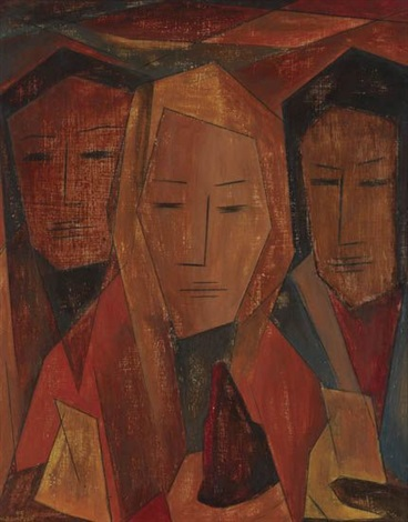 untitled three women by merton d simpson