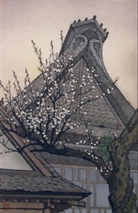 white plum in the farmyard by toshi yoshida