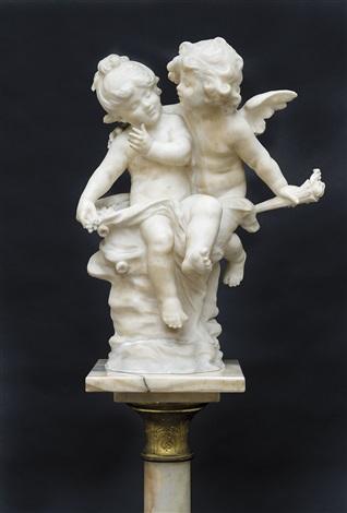 deux petits anges by auguste louis mathurin moreau